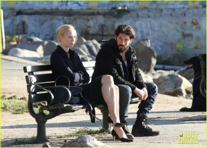 Jon Berthal & Deborah Ann Woll Film 'The Punisher' In NYC